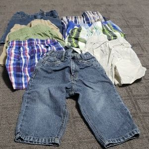 Bundle of size 18 month boys shorts and 1 jeans